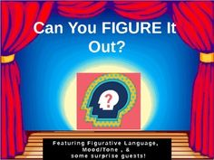 "This game was played in groups. It shows students images and based from the picture they have to ""figure out"" which type of figurative language it is. Special guest slides ask students to write a response out and were worth ""bonus"" points. The slide featuring Mary Poppins was a question about two short video clips we watched the day before(YouTube the scary trailer or Mary Poppins and the original-students discussed the differences in the mood/tone."