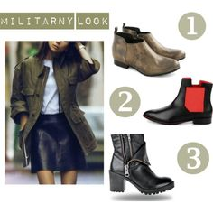 militarny look