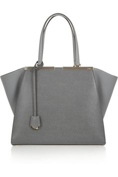 Fendi   3Jours medium textured-leather shopper   NET-A-PORTER.COM