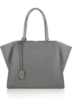 Fendi 3Jours medium textured-leather shopper