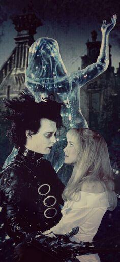 Forever Edward and Kim❄✂❄✂❄✂❄✂❄✂❄❄✂❄ Make by GIMP #EdwardScissorhands #EdwardKim #TimBurton #Scissors #IceDance #Snow #photomanipulation #GIMP #LINUX