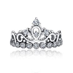 """Princess crown ring ❤Glamulet jewelry, fits all brands bracelet. Wonderful gifts for family, lover, friends...Get 5% off on www.glamulet.com with coupon code """"PIN5"""" #Glamulet"""