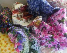 Cotton Fabric Scraps, Floral Fabric Pieces, Fabric Scraps, Remnants, Scrap Bag, Fast Shipping,F491