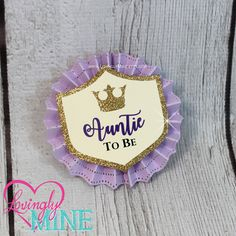 Name Tags/Corsages - Lavender, Ivory & Glitter Gold Little Princess Shield Baby Shower Cardstock Corsages by LovinglyMine on Etsy .. Princess Sofia, Sofia The First, Purple and Lavender Princess Baby Shower