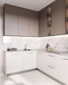 Minimalist Kitchen Cabinets, Kitchen Cabinets Decor, Kitchen Room Design, Kitchen Cabinet Design, Modern Kitchen Design, Kitchen Colors, Home Decor Kitchen, Rustic Kitchen, Interior Design Kitchen