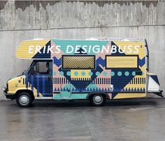 Traveling graphic design bus