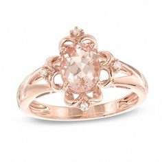 Zales Enhanced Champagne Diamond Accent Maple Leaf Ring in 10K Rose Gold 4TXbsWay4v