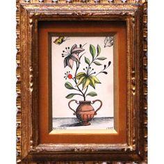 """REYNALDO FONSECA (1925) - """"Vaso com planta e pássaro"""" - Nanquim aquarelado s/ papel - ass. inf. esquerdo - 1975 - 14 x 19 cm<br /> reproduzido no Catalogo Leilão TNT (RJ) Julho de 2011<br /> <br /> Biografia:<br /> Reynaldo de Aquino Fonseca (Recife PE 1925). Pintor, muralista, ilustrador. Frequenta como ouvinte a Escola de Belas Artes de Pernambuco, no Recife, em 1936, onde é aluno de Lula Cardoso Ayres (1910 - 1987), e faz curso de magistério em desenho. Em 1944, reside no Rio de Janeiro…"""