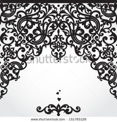 Vector baroque seamless border in Victorian style. Element for design. You can place the text on empty place. It can be used for decorating ...