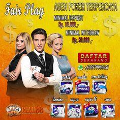 Remi88 juga menyedikan layanan deposit kredit Akun IDN Poker untuk mempermudah para player dalam melakukan transaksi deposit dana seperti :  + Deposit Via Pulsa (Telkomsel, XL, dan Axis) hanya 10 rb sja. + Deposit Via E-Money ( Ovo, Sakuku, Gopay, Papaya,dll) hanya 10 rb sja. + Deposit via tranfer bank BNI, BCA, BNI, Mandiri, dll) hanya 25 rb sja.  Permainan IDN Poker Online yang bisa dimainkan di Situs Agen Remi88 seperti : Poker, Ceme, Domino QQ, Capsa Susun, Ceme Keliling, Omaha, Super10. Poker, Baseball Cards, Movie Posters, Film Poster, Billboard, Film Posters