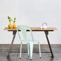 Buy Louis Industrial Table - Black Online | Retro, Vintage & Industrial Tables - Retrojan