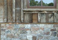 Reclaimed wood siding