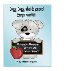 Free! Doggy Doggr, what do you see! Free emergent reader, match game & coloring page. Addresses school supply vocab.