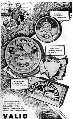 Valio - juustomainos 1934