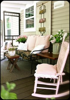 Pretty porch from The Old Painted Cottage