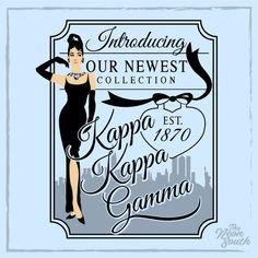 Dressed up for Bid Day. Customize this design! Sorority Bid Day, Kappa Kappa Gamma, Sorority Canvas, Sorority Sisters, Sorority Outfits, Sorority Crafts, Sorority Life, Sorority Recruitment, Cute Shirt Designs
