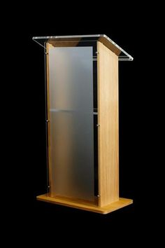 This is the podium that General Bodeker is standing behind at the beginning of the short story.