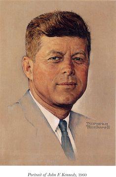 But wait 0til next week - Norman Rockwell - Portrait of John F.Kennedy, 1960