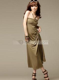 Luxurious Halter Metal Dress