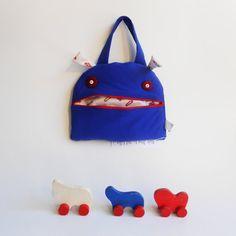 Monster snack bag Zé Snackglutton funny hand purse / by Zezling
