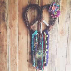 GYPSY DREAM Love Heart Wreath Peace Dream Catcher by Run2theWild on Etsy https://www.etsy.com/listing/151272679/gypsy-dream-love-heart-wreath-peace