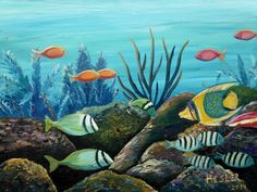 Shop Realism Animal Acrylic Paintings created by thousands of emerging artists from around the world Art Prints Online, Paint Designs, Paintings For Sale, Saatchi Art, Underwater, Artist, Artwork, Paradise, Animals