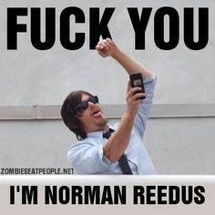 I'm Norman Reedus, King of the Selfies
