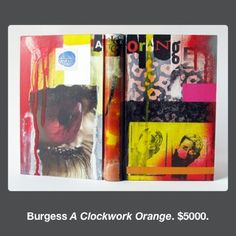 A Clockwork Orange by Anthony Burgess bound by Mark Cockram // full leather binding with collaged covers Accordian Book, Beautiful Cover, Assemblage Art, Handmade Books, Bookbinding, Book Art, Artist's Book, Binder, Original Artwork