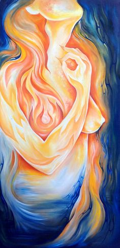Dragon Woman - ORIGINAL oil Painting 20x30 inches - FREE Print with this purchase