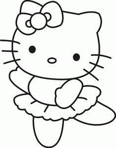 Hello Kitty Coloring Sheet