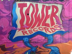 Graffiti on closed San Francisco Tower Records (Bay & Columbus) was one of my favorite record stores. Tower Records, Nativity, Graffiti, Musicals, San Francisco, Neon Signs, In This Moment, The Nativity, Graffiti Artwork