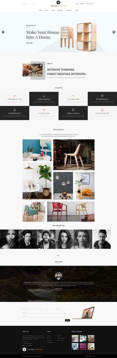 Luxury Furniture Store Web Design | DezineMag