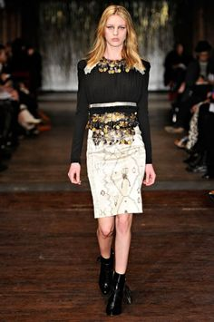 A look from Altuzarra's Fall 2012 Collection via www.LuxeCrush.com