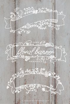Free Floral Banner Graphics Designs By Miss Mandee. So pretty! These would look so nice on a Christmas card, wedding invitation, or anything really. Wedding Cards, Wedding Invitations, Web Design, Graphic Design, Design Ideas, Floral Vintage, Floral Banners, Web Banners, Paper Crafts