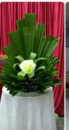 Flowers Arrangements For Church Palm Sunday 42 Ideas Tropical Flower Arrangements, Church Flower Arrangements, Beautiful Flower Arrangements, Tropical Flowers, Beautiful Flowers, Altar Flowers, Church Flowers, Funeral Flowers, Altar Decorations