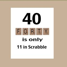 40th Birthday Card, 40th Birthday, Milestone Birthday, The Big 40, Scrabble Card