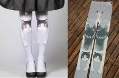 Cartoon Cat Stockings Tights