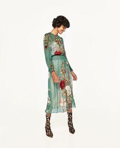 3e977c694db8 FLORAL PRINT FLOWING DRESS-DRESSES-WOMAN