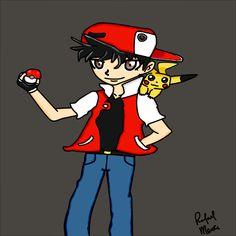 Rafael Merce: Desenho - RED -Pokemon