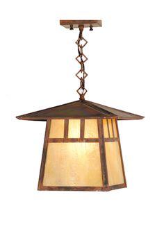 12 Inch Sq Stillwater Double Bar Mission Ceiling Pendant - Custom Made Lantern Pendant, Ceiling Pendant, Light Pendant, Ceiling Light Fixtures, Ceiling Lights, Pool Table Lighting, Outdoor Lighting, Lighting Sale