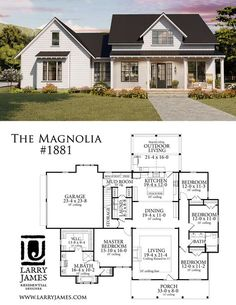 The Magnolia House Plan 1881 I like this laundry room set up! And the bedrooms The Magnolia House Plan 1881 I like this laundry room. 4 Bedroom House Plans, New House Plans, Dream House Plans, Modern House Plans, Small House Plans, My Dream Home, Small Farmhouse Plans, Cottage House Plans, House Plans With Garage