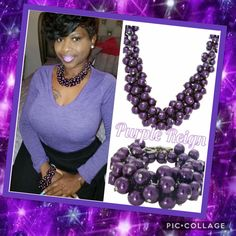 #pearls #purpleregin #necklace #bracelet #fabulous #jewelry #shop #hotseller #purchaseyourstoday #giftit  This beautiful Purple Reign pearl necklace and bracelet ensemble is a must have for your wardrobe!!  Wear it for Casual or Formal Occasions or Just because!!   Purchase one for yourself and gift one to someone special who has touched your life in a special way!!  Shop in my e-boutique www.tracilynnjewelry.net/34188