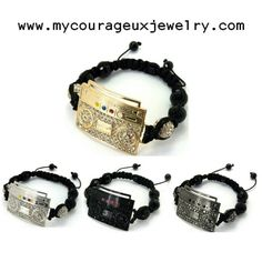 Love Music Try #mycourageuxjewelry Iced Out Boom Box (4 Colors) Available Now www.mycourageuxjewelry.com #boombox #musicbox #music #bracelets #jewelry #accessories #onlinestore #onlineshop #mcjline #optimise #smallbusiness #order #ship #google #edgy #unique #different