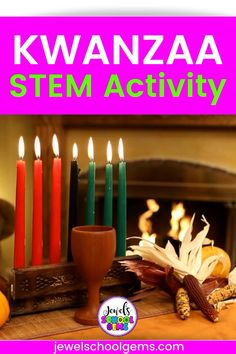 With a little breathing room between now and Christmas, I think it's the perfect time to look at Holidays Around the World STEM activities! This is why I have seven holidays and seven STEM activities just for you! One of them is this Kwanzaa STEM Challenge. Challenge your students to design and build a unity cup that can be drank from out of simple materials! Click to learn more.