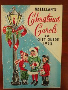 Vintage Christmas Catalog ~ McLellan's Christmas Carols and Gift Guide ©1958
