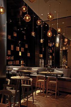 Ideas for design cafe restaurant bar Cafe Restaurant, Restaurant Seating, Restaurant Lighting, Budapest Restaurant, Bar Lighting, Lighting Ideas, Luxury Restaurant, Vintage Lighting, Lighting Design