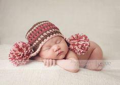 Baby Hat, Newborn Girl Hat, Elf Hat, Newborn Hats, Newborn Photo Props, Newborn Photography Prop, Baby Boy Hats. $28.00, via Etsy.