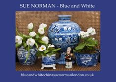 Blue and white china Sue Norman London homepage