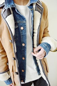 Layering with the trucker jacket