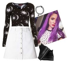 """""""...I've got a heart that wants to vandalize...and run away from you for good..."""" by lifesucks-musichelps ❤ liked on Polyvore featuring Miss Selfridge, Motel and Converse"""